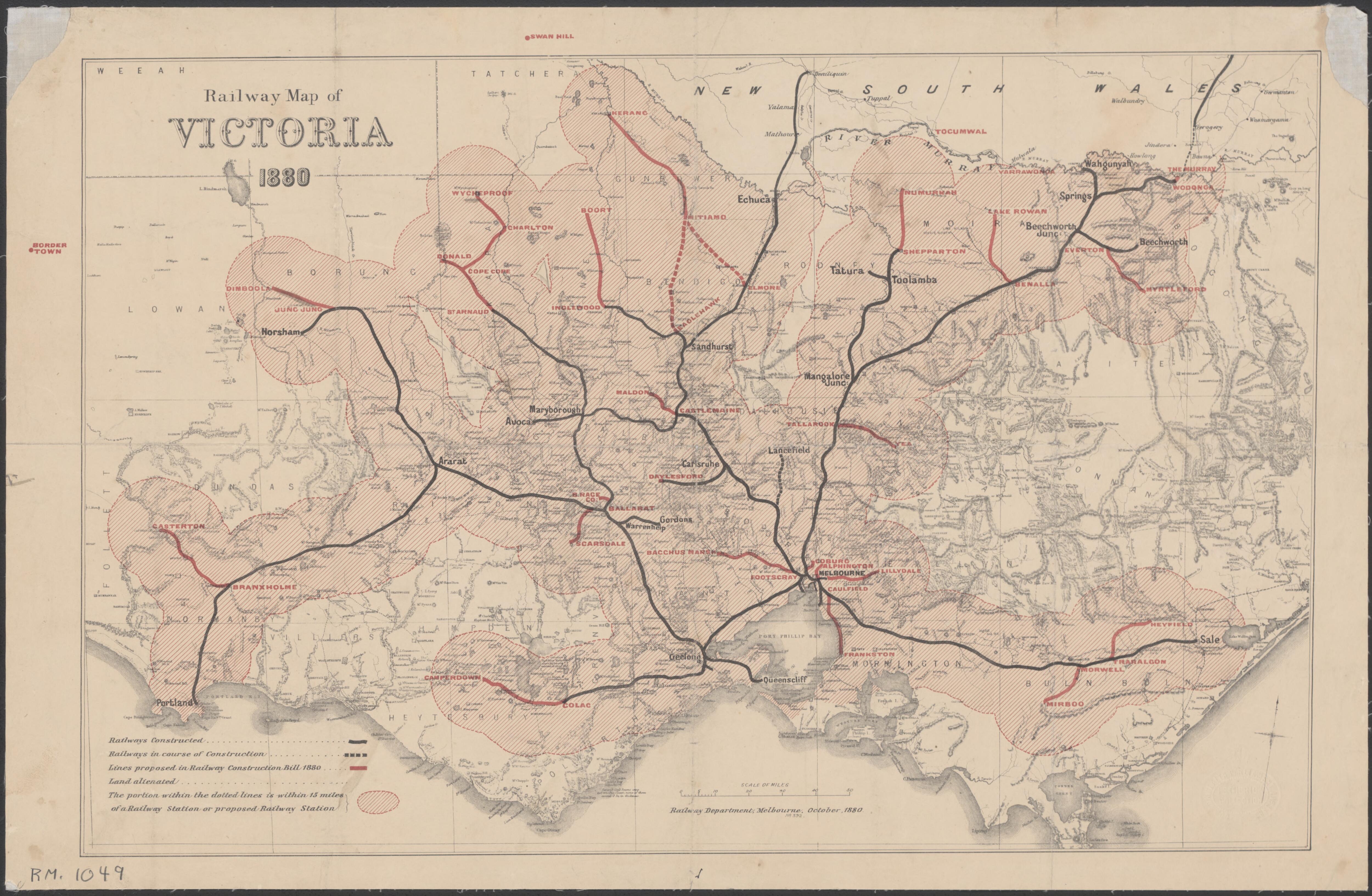 Evolution Of Rail Maps In Victoria Maps By Philip Mallis - Victorian world map