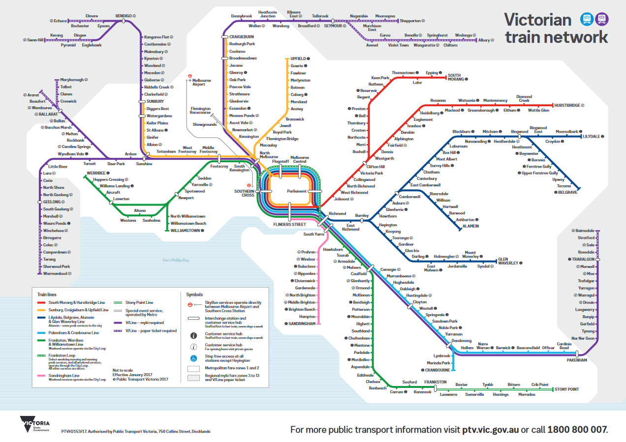 Evolution of rail maps in Victoria | Maps by Philip Mallis